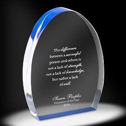 Personalized World of Gratitude Acrylic Award