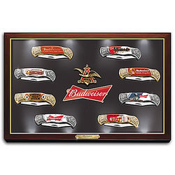 Budweiser: The King of Beers Knife Collection with Display