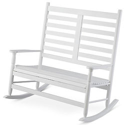Seabrooke White Double Rocking Chair   FindGift.com
