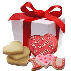 Personalized Valentine's Day Cookies Gift Box