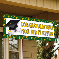 Personalized School Color Graduation Banner