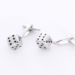 Dice Cuff Links with Personalized Case