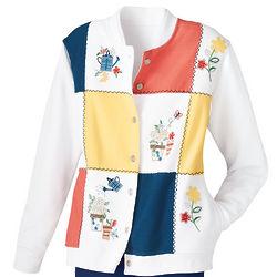 Floral Patchwork Cardigan
