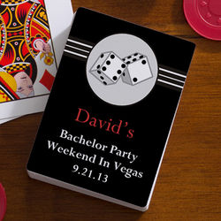 Roll the Dice Personalized Bachelor Party Playing Card Favors