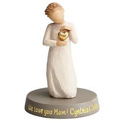Personalized Willow Tree Golden Heart Figurine