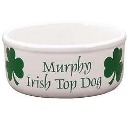 Personalized Irish Top Dog Bowl