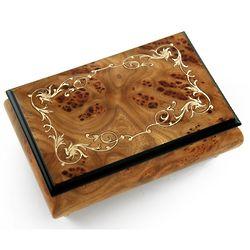 Arabesque Wood Inlay Design Music Box