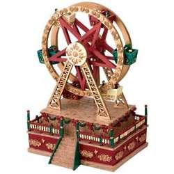 Miniature Christmas Carnival Ferris Wheel Musical Figurine