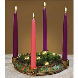 Irish Peace, Love, Joy, Hope Advent Wreath