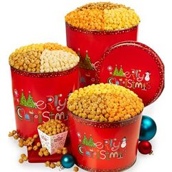 Merry Christmas 2 Gallon Popcorn Tin