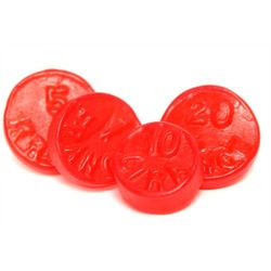 Red Raspberry JuJu Coins Candy