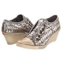 Women's Silver Slip on Sneakers