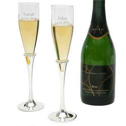 Devotion Personalized Toasting Flutes