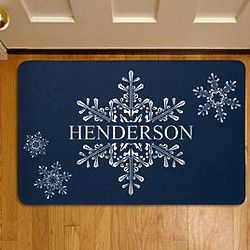 Personalized Holiday Snowflake Welcome Doormat