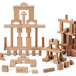 Wooden Handcrafted Building Blocks Master Builder Set