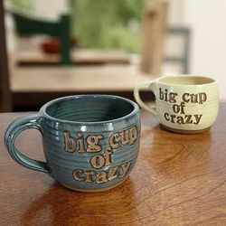 Big Cup of Crazy Handmade Pottery Mug