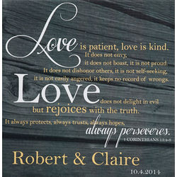 Love is Patient Personalized Canvas Print