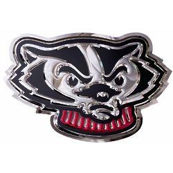 Bucky Badger Head Metal Wall Hanging