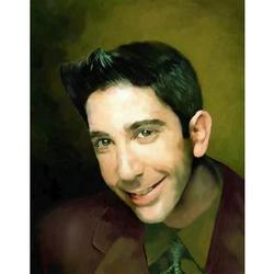 David Schwimmer Oil Painting Art Print