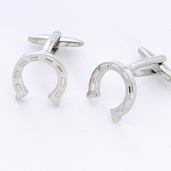Horseshoe Cuff Links with Personalized Case