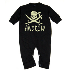 Personalized Halloween Pirate T-Romper