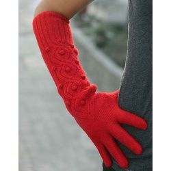 'Scarlet River' Alpaca Wool Gloves