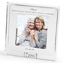 Engraved Square Crystal Frame