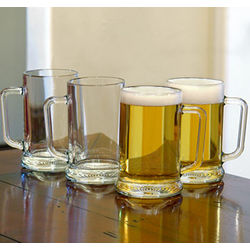 Saloon-Sized Glass Beer Mugs