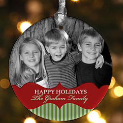 Picture Perfect Personalized Photo Christmas Ornament