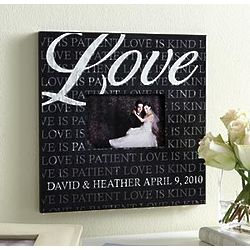 Personalized Love Is Patient Photo Frame