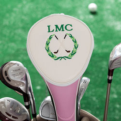Personalized Ladies Pink Golf Crest Club Cover