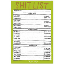 Hand-Lettered Sh*t List Pad