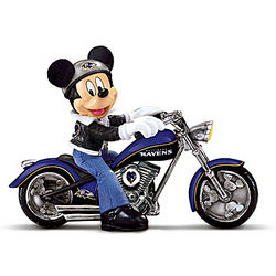 Baltimore Ravens Headed For Victory Mickey Mouse Figurine