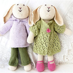 Organic Cotton HandKnit Bunny