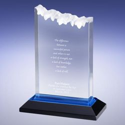 Personalized Blue Summit Reflection Award