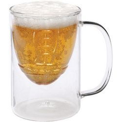 Glass Football Beer Stein
