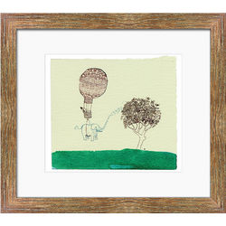 Hot Air Elephant Framed Print