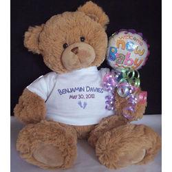 Personalized New Baby Teddy Bear