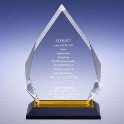 Gold Diamond Reflection Acrylic Award
