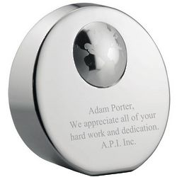 Personalized Globe Paperweight Award