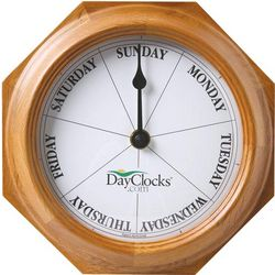 What Day is It Wooden Wall Clock