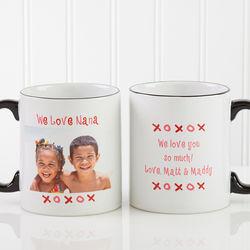 Personalized Loving You Photo Ceramic Coffee Mug