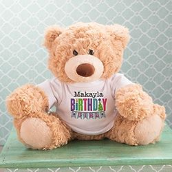 Birthday Girl's Personalized Coco Teddy Bear