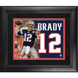 New England Patriots Tom Brady Framed Jersey Number Collage