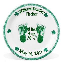 Personalized Irish Motif Birth Plate
