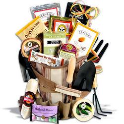 Deluxe Gourmet Gardening Tote Gift Basket