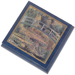 Waterlilies Evening by Monet Musical Jewelry Box