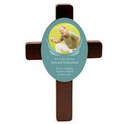 Memorial Rosewood Photo Cross