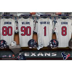 Houston Texans Personalized 16x24 Locker Room Canvas