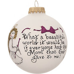 Mom is a Beautiful Gift Christmas Ornament